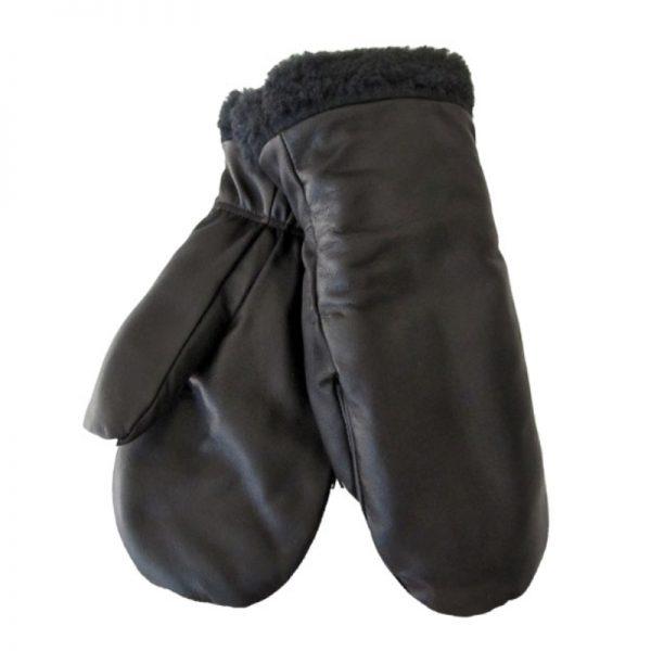 Nahkarukkanen miehet (lampaannahka) - musta