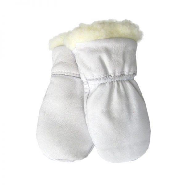 Nahkarukkaset vauvoille - valkoinen